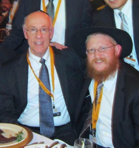 Jerry with Shliach Rabbi Levi Mendelow @ Chabad Annual Kinus